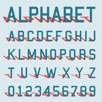 Modello di ombra di alfabeto vettore