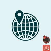 Icona del globo isolato vettore