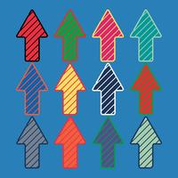 Modello di frecce colorate