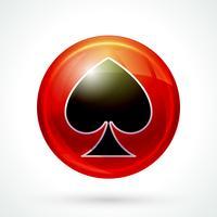Icona di giochi di casinò vettore