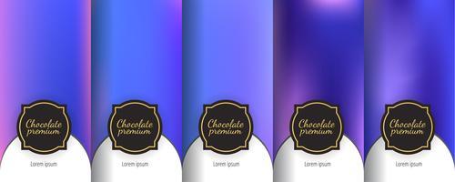 Set di sfondi senza giunte d'epoca scuri per design di packaging di lusso.