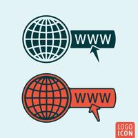 Icona del sito Web isolata vettore