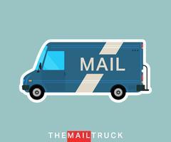 Camion di posta isolato vettore