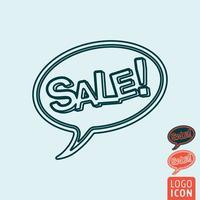 Icona di vendita isolata