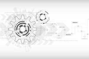 Tecnologia di sfondo vettoriale nel concetto di ingranaggi.