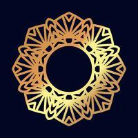 Mandala d'oro. Meditazione indiana del matrimonio. vettore