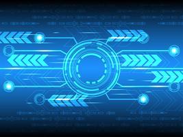 Lavoro digitale veloce su uno sfondo blu.