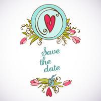 Invito a nozze salvare le carte data Vector