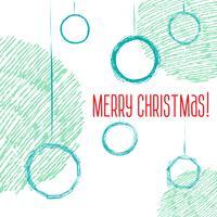 Schizzo di stile disegnato a mano di palle di Natale vettore