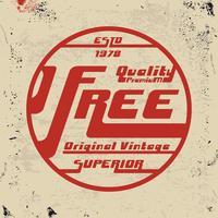 Francobollo vintage gratuito vettore