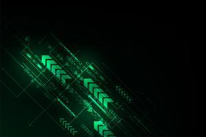 Il movimento di informazioni nel mondo digitale. vettore