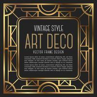 Stile vintage art deco del telaio. illustrazione vettoriale