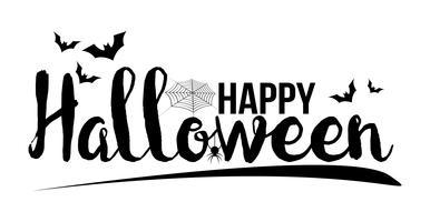 Felice banner di Halloween. Lettera di invito e concetto di messaggio. Temi di vacanze e fantasmi. Illustrazione vettoriale