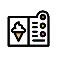 Vettore del menu del gelato, profilo editabile dell'icona riempita