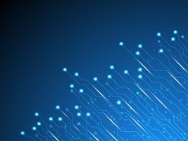 Progettazione di circuiti elettronici di sfondo vettoriale.