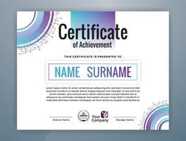 Modello di certificato professionale multiuso. Illustrazione vettoriale astratta