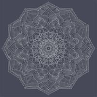 Gli elementi decorativi d'annata della mandala di colore d'argento vector l'illustrazione