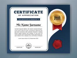 Modello di certificato professionale multiuso. Illustrazione vettoriale