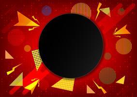 Fondo geometrico astratto di colore rosso, illustrazione eps10 di vettore
