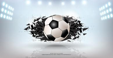 Fondo della bandiera di sport, elemento realistico della palla di progettazione grafica 3d con lo spazio della copia per il modello del modello di presentazione.