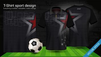 T-shirt polo con cerniera, modello mockup di Soccer jersey sport per kit calcio o divisa activewear per la tua squadra.