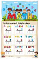 Numero di moltiplicazione del foglio di lavoro matematico Capitolo