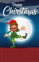 Concetto di elfo di Natale felice