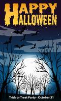 Felice modello di notte di Halloween vettore