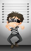 Burgular prendendo una foto segnaletica