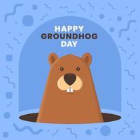 Inviti di modello di scheda di disegno carino divertente Ground Hog