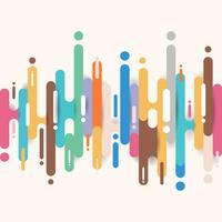 Linee di forme arrotondate multicolori astratte fondo di transizione con lo spazio della copia. Elemento stile mezzetinte a colori vivaci. vettore