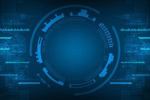 Il fondo astratto di vettore mostra l'innovazione dei concetti di tecnologia e tecnologia.