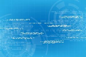 Tecnologia vettoriale sotto forma di mondo digitale.