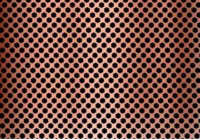 Priorità bassa astratta del metallo di rame fatta dalla struttura del reticolo di esagono. Geometrico nero e rosso.