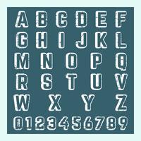 Modello numero di lettera vettore