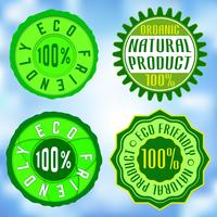 Set di francobolli ecologici vettore