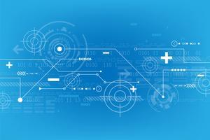 Vector astratto sfondo nel concetto di tecnologia.
