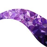 Sfondo viola mosaico poligonale, modelli di design creativo