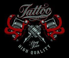 Illustrazione vettoriale di macchine del tatuaggio