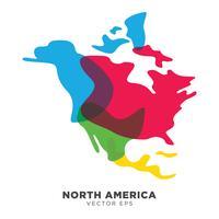 Vettore creativo della mappa del Nord America, vettore ENV 10