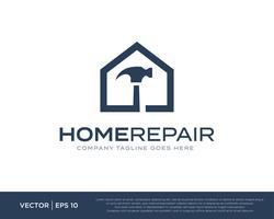 Vettore di riparazione dell'icona di marchio di riparazione della casa