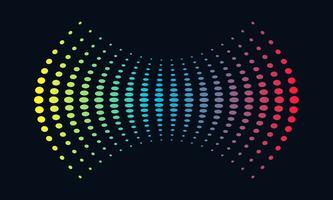 Onda sonora di concetto di musica di logo, audio tecnologia, forma astratta vettore