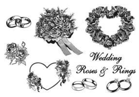 Pacchetto di elementi di vettore di nozze