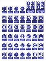 Modelli di segnaletica turca, segnale di pericolo, segno proibito, sicurezza sul lavoro e segni di salute, cartello di avvertimento, segno di emergenza antincendio. per adesivi, poster e altri materiali di stampa. facile da modificare. vettore. vettore