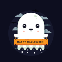 vettore fantasma di Halloween
