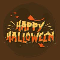 Felice Halloween tipografia vettoriale