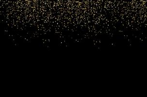 cascate scintillio dorato sparkle-bubbles particelle di champagne stelle sfondo nero felice anno nuovo concetto di vacanza.