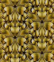 Modello astratto oro geometrica senza soluzione di continuità vettore