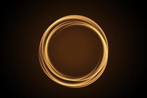 cerchio di fuoco. Traccia luminosa ad anello luminoso. Glitter magic sparkle swirl trail effect. insolito, fantastico. vettore
