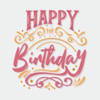 Buon compleanno tipografia vettoriale